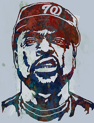 Charcoal Mixed Media - Ice Cube - Stylised Pop Art Sketch Poster by Kim Wang