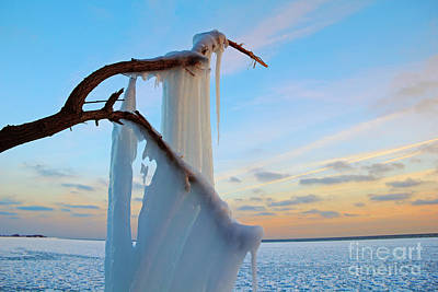 Photograph - Ice Curtain by Charline Xia