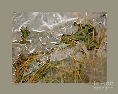 Ice Edges-iii Art Print by Patricia Overmoyer