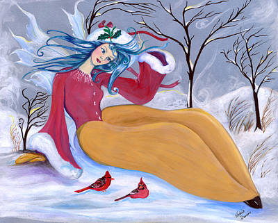 Painting - Ice Fairy by Nadine Dennis