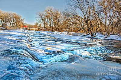 Ice Falls Art Print by Baywest Imaging