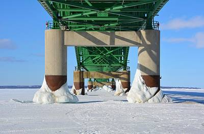 Photograph - Ice Feet Under The Bridge by Keith Stokes