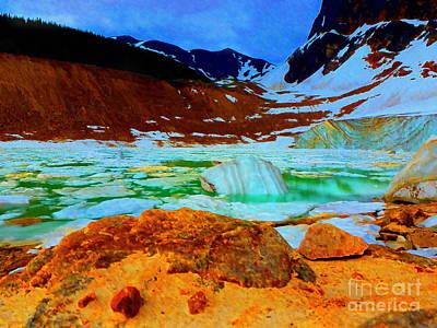 Snow Drifts Mixed Media - Ice Field Valley by John Kreiter