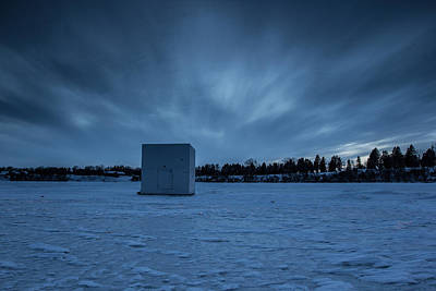 Shack Photograph - Ice Fishing by Aaron J Groen