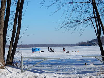 Petrie Island Photograph - Ice Fishing by Betty-Anne McDonald