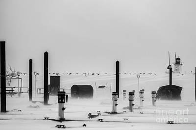 Photograph - Ice Fishing by JT Lewis