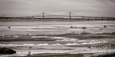 Ice Fishing On The Saint Lawrence River Art Print