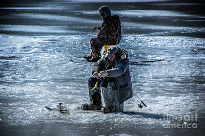 Photograph - Ice Fishing by Ronald Grogan