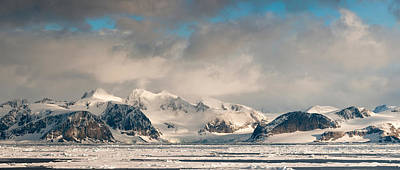 Ice-floe Photograph - Ice Floes And Storm Clouds In The High by Panoramic Images