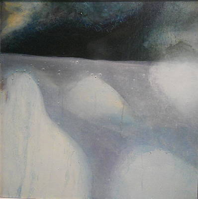 Diane Peters Painting - ice flow III by Diane Peters