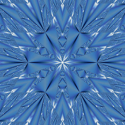 Digital Art - Ice Flower Fractal by Judi Suni Hall