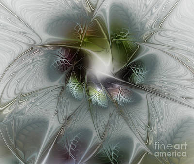 Flower Blooms Digital Art - Ice Flower by Karin Kuhlmann