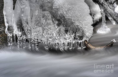 Ice Formation Above Stream Art Print by Dan Friend