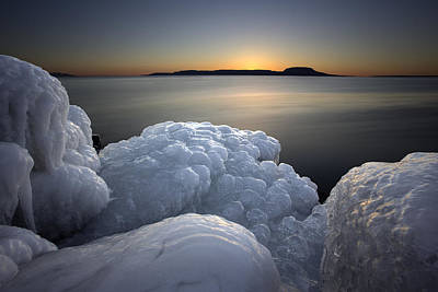 Gichigami Photograph - Ice Formations Before Sunrise by Jakub Sisak