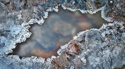 Ice Frame Over Frozen River Art Print by Dirk Ercken