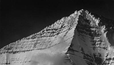 Photograph - 102493-e-bw Ice Gargoyles On Mt. Robson by Ed  Cooper Photography