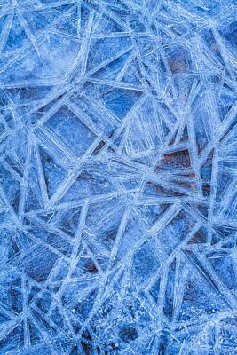 Photograph - Ice Geometric by Jeff Sinon