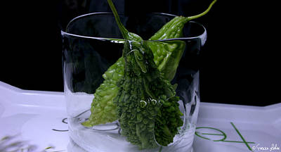 Ice-glass Bitter Gourd Original by Evewin Lakra