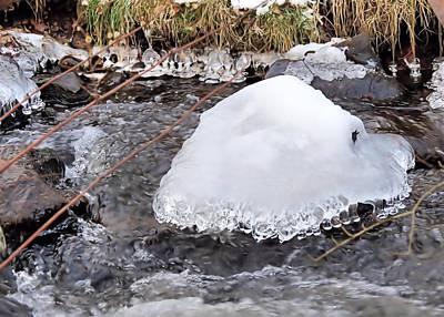 Photograph - Ice Helmet by Janice Drew