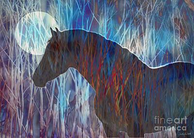 Judy Wood Digital Art - Ice Horse by Judy Wood