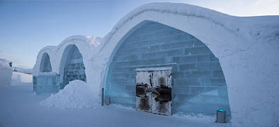 Kiruna Photograph - Ice Hotel Panorama Sweden by Joakim Loxdal