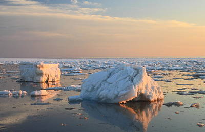 Photograph - Ice In Cape Cod Bay March 2015 by John Burk