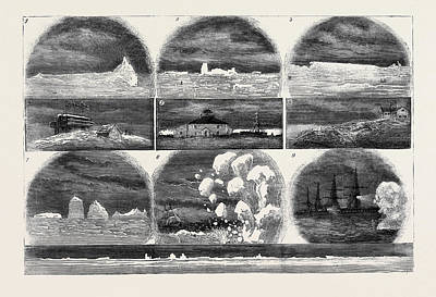 Lighthouse Drawing - Ice In The Atlantic Ocean 1. Iceberg One Mile by English School