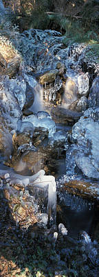 Ice Is Encrusting A Waterfall Art Print by Ulrich Kunst And Bettina Scheidulin