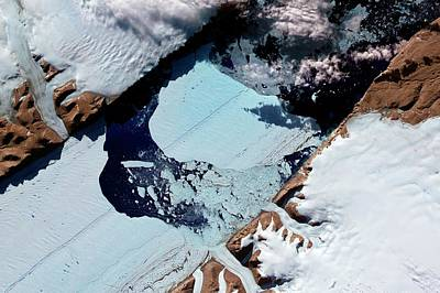July 21 Photograph - Ice Island From Petermann Glacier by Nasa