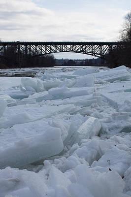 Ice Jam I-91 Bridge Brattleboro Vt Art Print