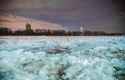 Ice Jam Art Print by Kristopher Schoenleber