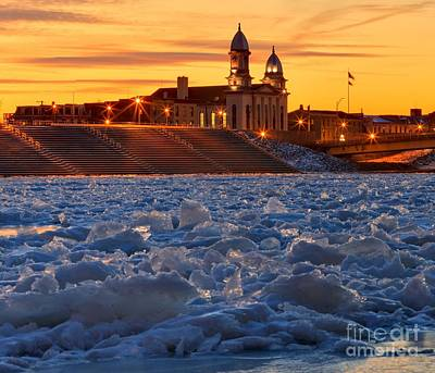 Photograph - Ice Jam On The Susquehanna by Adam Jewell