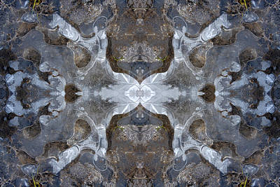 Digital Art - Ice Kaleidoscope 2 by Steve Ball