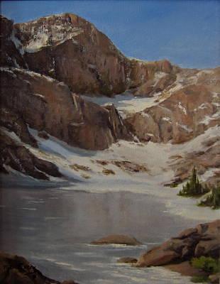 Ice Lake - July  Art Print by Mar Evers