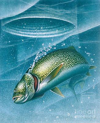 Ice Laker Art Print by Jon Q Wright