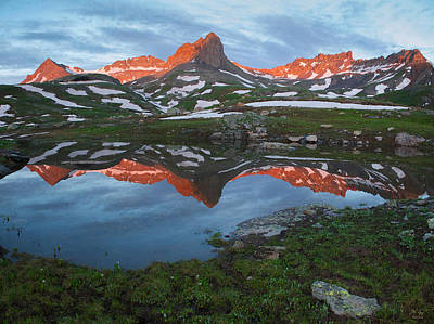 Photograph - Ice Lakes Alpenglow by Aaron Spong