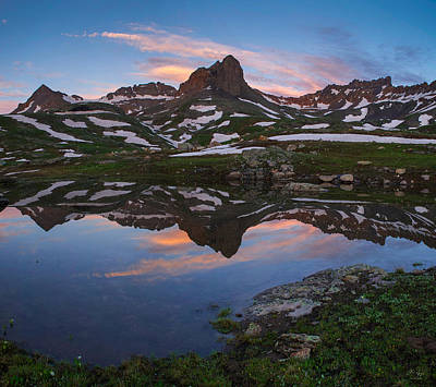 Photograph - Ice Lakes Basin Sunrise by Aaron Spong