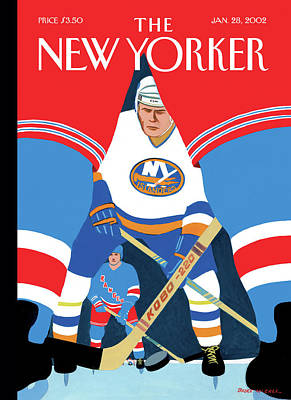 Hockey Painting - Ice Level by Bruce McCall