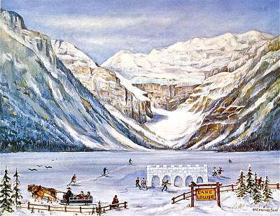Ice Magic-lake Louise Winter Festival Original by Virginia Ann Hemingson