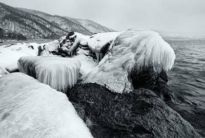 Photograph - Ice Monster by Brad Brizek