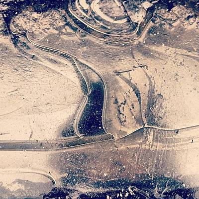 Natural Photograph - Ice On A Puddle by Nic Squirrell
