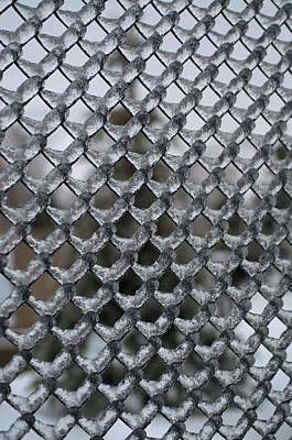 Photograph - Ice On Chain Link Fence by Douglas Pike