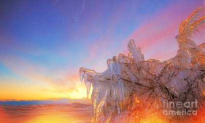 Photograph - Ice On Fire by Charline Xia