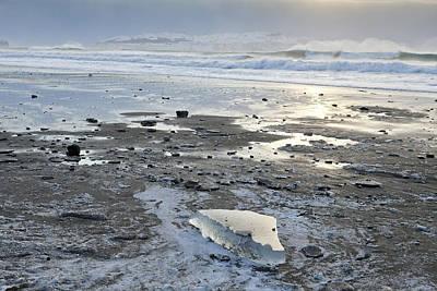 Ice On Fossil Beach Art Print
