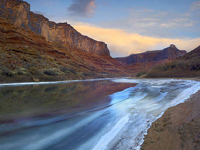 Photograph - Ice On The Colorado River In Cataract Canyon by Tim Fitzharris