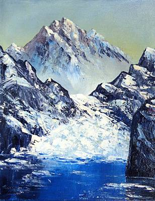 Ice On The Rocks Art Print by Kenny Henson