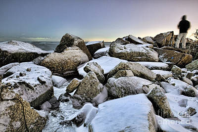 Photograph - Ice On The Rocks by Steven K Sembach