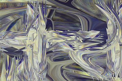 Digital Art - Ice Palace by rd Erickson