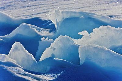 Madeleine Photograph - Ice Pattern, Iles De La Madeleine by Keren Su