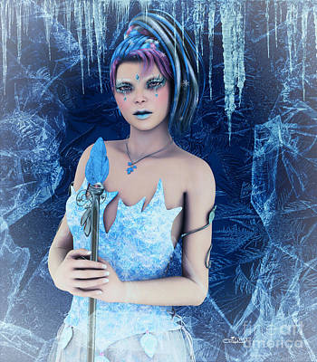 Digital Art - Ice Princess by Jutta Maria Pusl